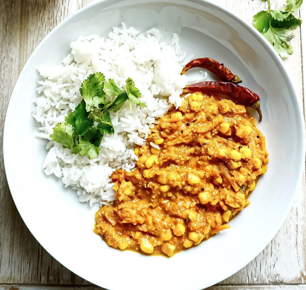 vegan corn curry