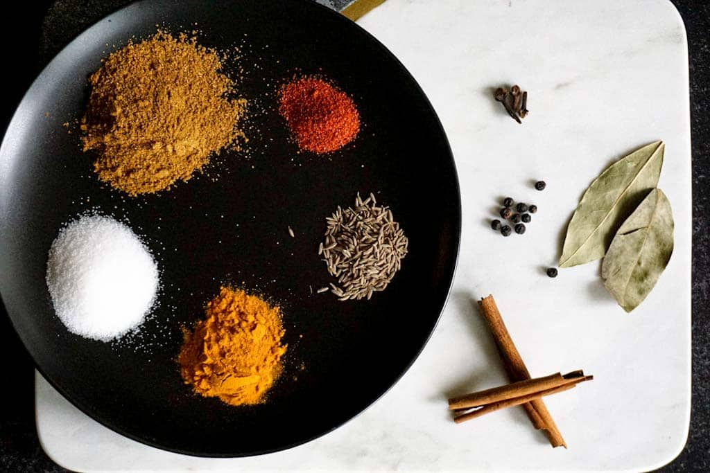 Indian spices for vegetable biryani