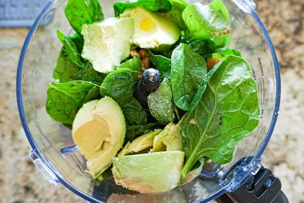 Ingredients for Avocado Spinach Pesto