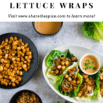 Tofu and vegetable lettuce cups with peanut sauce