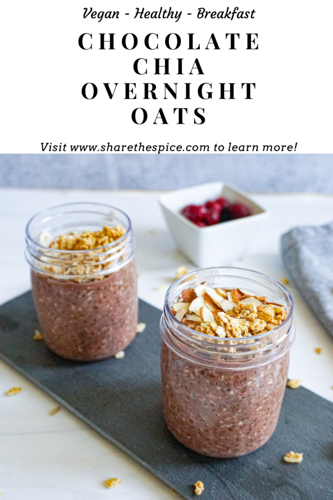 Pinterest Image Chocolate Chia Overnight Oats