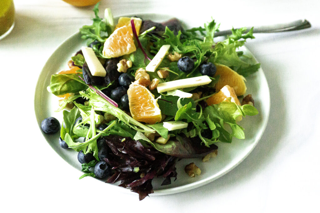close up citrus salad
